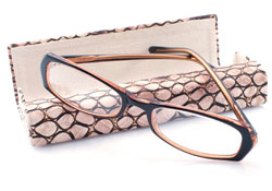 Glasses and designer case
